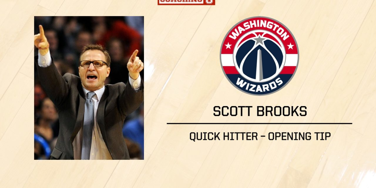 PLAYBOOK: Scott Brooks' Quick Hitter for Marcin Gortat after Opening Tip.
