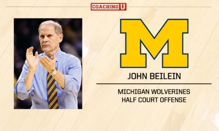 Playbook: John Beilein – Michigan Wolverines – Half Court Offense