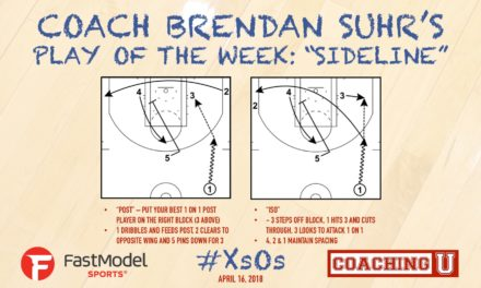 "Coach Brendan Suhr's Play of the Week: ""Sideline"""