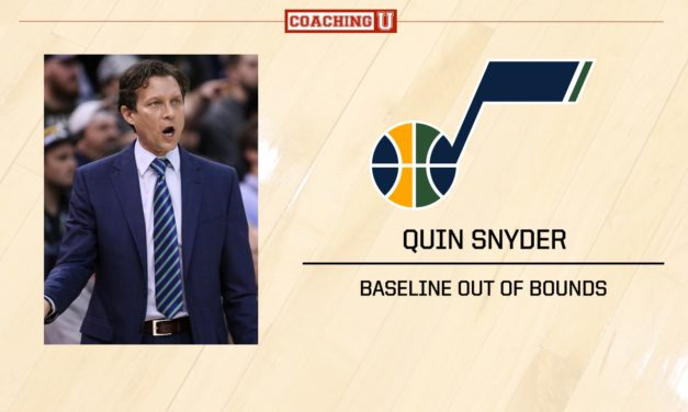 Playbook: Quin Snyder – Utah Jazz – Baseline Out of Bounds