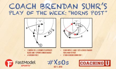 "Coach Brendan Suhr's Play of the Week: ""Horns Post"""