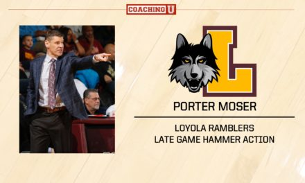 Playbook: Porter Moser – Loyola Ramblers – Late Game Hammer Action