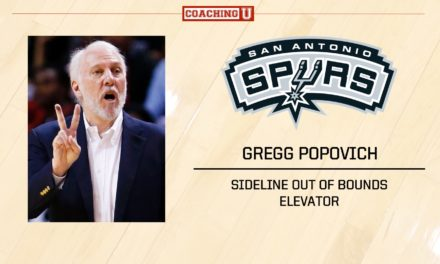 Playbook: Gregg Popovich – San Antonio Spurs – Sideline Out of Bounds