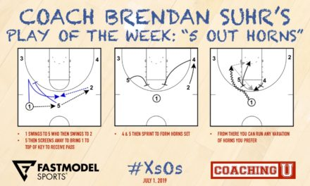Coach Brendan Suhr's Play of the Week: 5 Out Horns