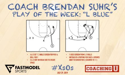 """Coach Brendan Suhr's Play of the Week: """"L Blue"""""""