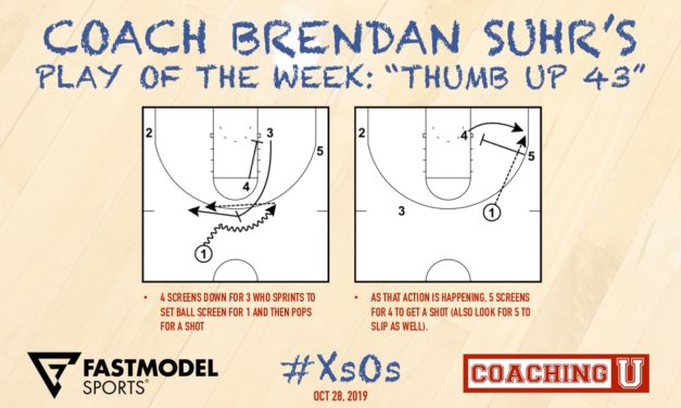 """Coach Brendan Suhr's Play of the Week: """"Thumb Up 43"""""""