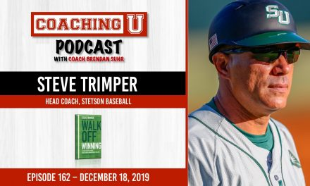 Steve Trimper, Stetson Baseball Head Coach & Author of Walk Off Winning